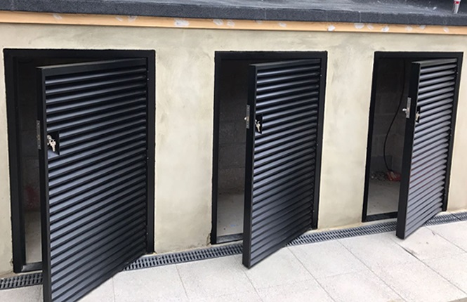 RSG8200 highly ventillated louvre doors fitted to some of plant rooms in Wimbledon.