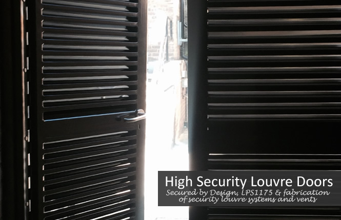RSG8200 security louvre doorsets for commercial and industrial plant rooms.