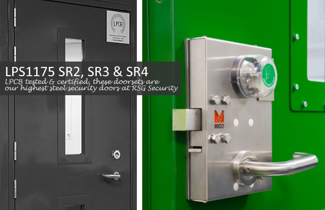 RSG9200 LPS1175 SR3 high security steel doorsets installed in government buildings around London..