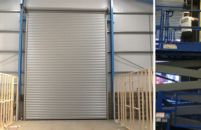 fitting of industrial shutter in South London.